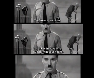 charlie chaplin, speach, and quotes image