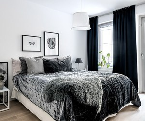 apartment, black, and decor image
