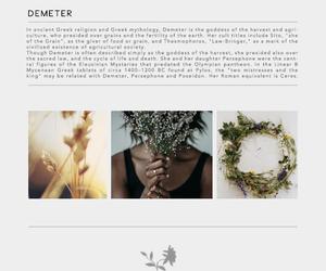 goddess, mythology, and demeter image