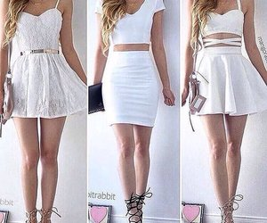 white, outfit, and dress image