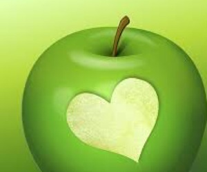 apple, color, and green image