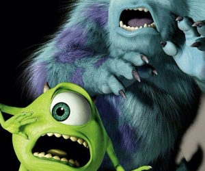 wallpaper, monster inc, and mike image
