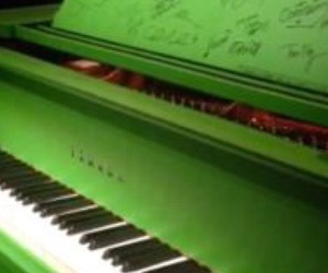 color, piano, and green image