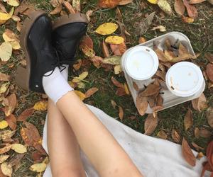 tumblr, autumn, and coffee image