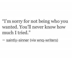 quote, love, and sorry image