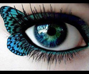 butterfly, makeup, and eye image