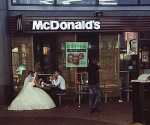 wedding, McDonalds, and couple image