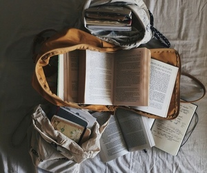 book, reading, and bag image