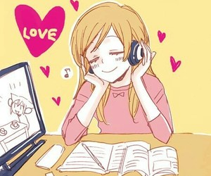 cute, anime, and music image
