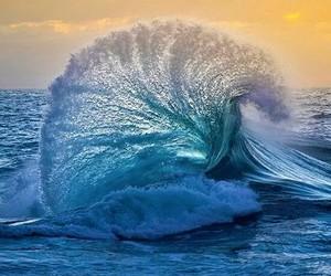 agua, mar, and ola image
