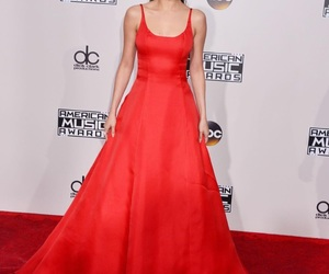 fashion, red carpet, and red dress image
