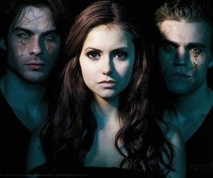 the vampire diaries, stefan, and Nina Dobrev image