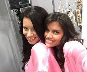 adrianalima, brunette, and sister image