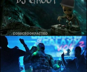 dj, Marvel, and groot image