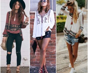 folk, outfits, and blusas image