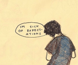 expectations, sick, and art image