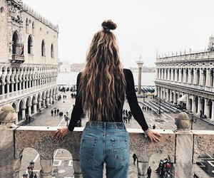 girl, hair, and goals image