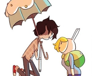 adventure time, marshall lee, and fiolee image