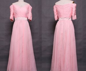evening dresses, pink prom dresses, and long prom dresses image