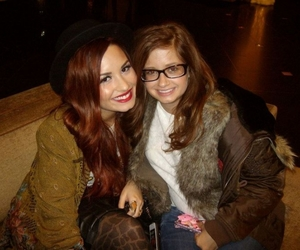 demi lovato, hat, and red hair image