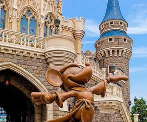 castle, disney world, and fun image