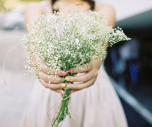 flowers, white, and nails image