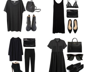black, outfit, and shoes image