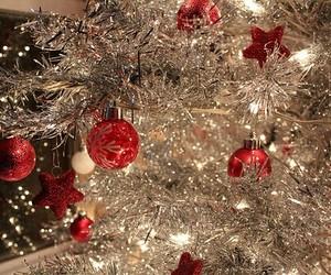 christmas, christmas tree, and silver image