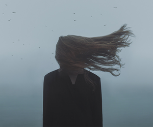 hair, grunge, and wind image