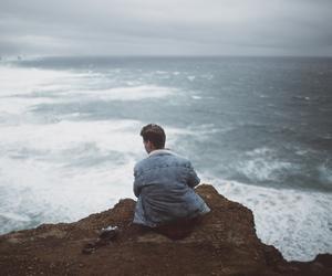boy, nature, and sea image