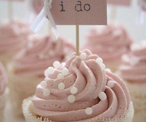 cupcake, pink, and wedding image