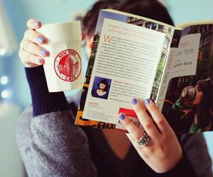 analog, book, and girl image