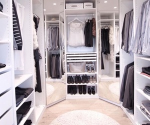wardrobe, closet, and fashion image