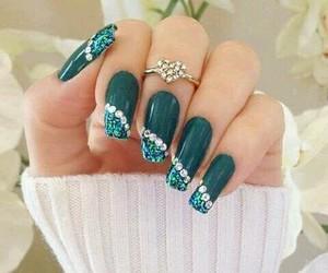 art, green, and nails image