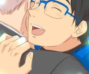 anime, blush, and boys image