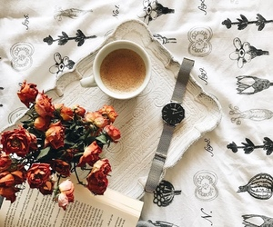 autumn, bouquet, and coffe image