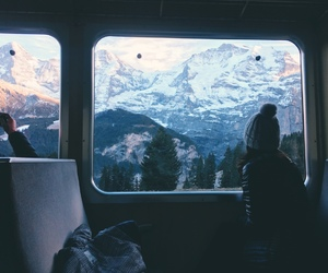 adventure, mountains, and train image