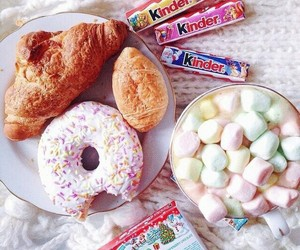 donuts, food, and kinder image