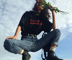 grunge, aesthetic, and rose image