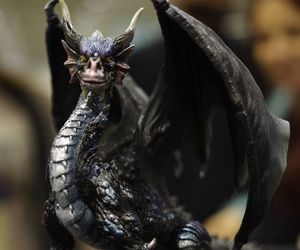 black, dragon, and sclupture image
