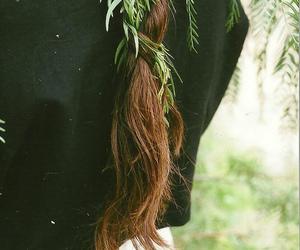 hair, nature, and braid image