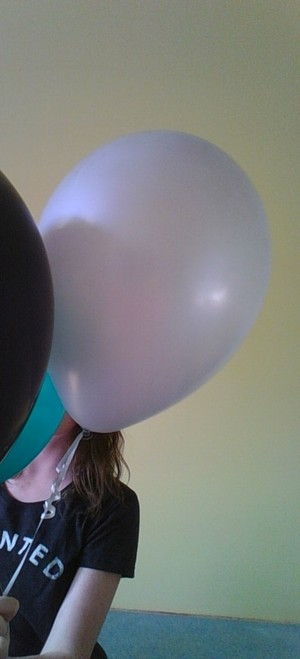 balloons, girl, and random image