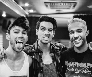 brendon urie, pete wentz, and fall out boy image