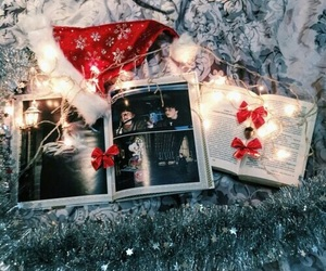 book, cristmas, and harry potter image