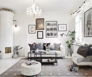 living room, interior, and Scandinavian image