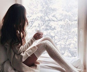coffee, snow, and loveyourself image