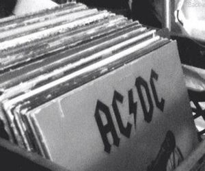 ACDC, music, and black and white image