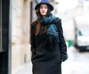 fashion, coat, and glamour image