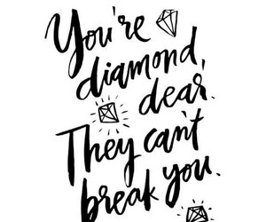 quotes, diamond, and black image