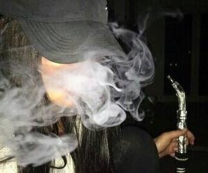 smoke, black, and dark image